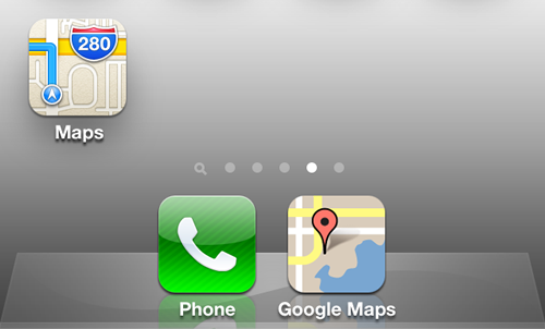 Google Maps on Apple's iOS 6 for iPhone